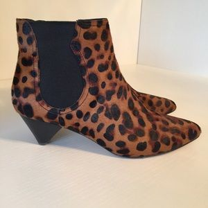 Joie Leopard Print Ankle Boots size 37